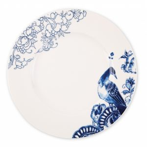 Piatto da cena Peacock Symphony – Royal Delft